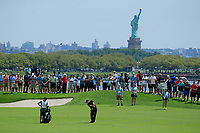 Patrick Reed (USA) during the second round of The Northern Trust, Liberty National Golf Club, Jersey City, New Jersey, USA. 09/08/2019.<br /> Picture Michael Cohen / Golffile.ie<br /> <br /> All photo usage must carry mandatory copyright credit (© Golffile | Michael Cohen)