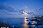 Moonrise at Portland Head Light, Cape Elizabeth, Maine, USA