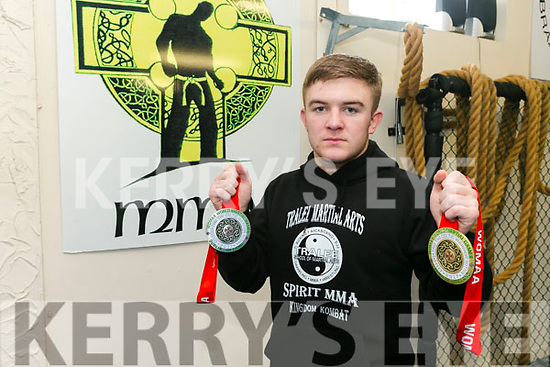 Tralee Martial Arts member Dion O'Keeffe won gold and silver at the recent World Championships in Dublin