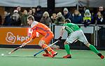 AMSTELVEEN - Mirco Pruyser (Ned)   tijdens de hockeyinterland Nederland-Ierland (7-1) , naar aanloop van het WK hockey in India.  COPYRIGHT KOEN SUYK