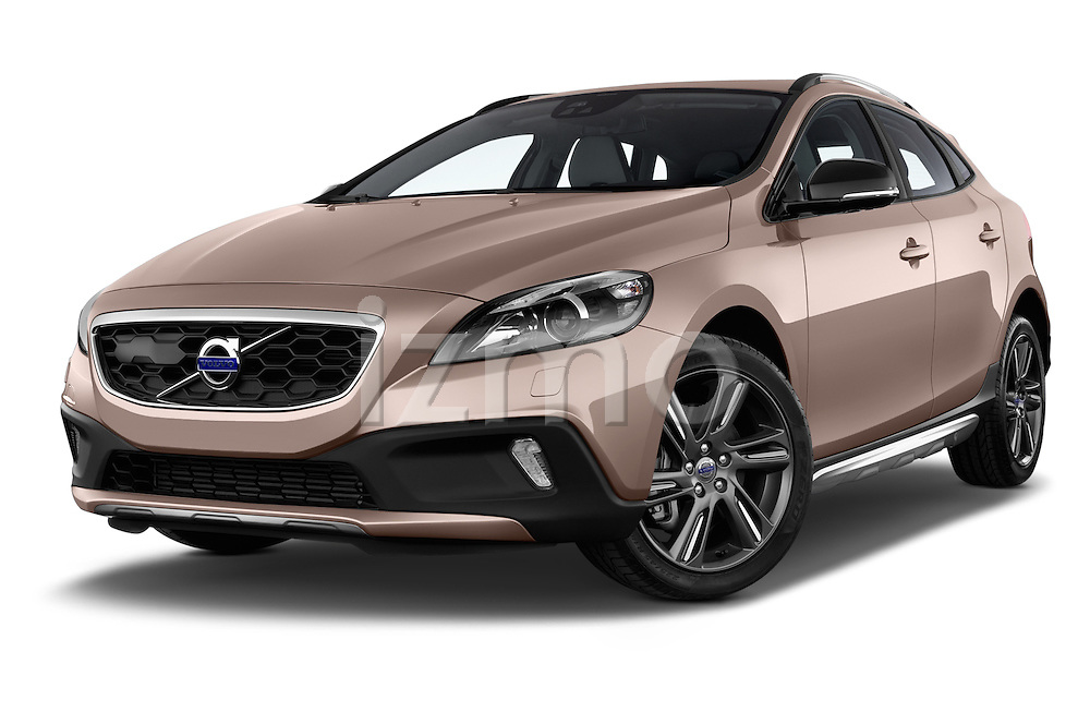Low aggressive front three quarter view of a 2013 Volvo V40 Cross Country Summum Hatchback
