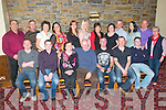 60th Birthday: John Mulvihill, Ballygoughlan, Glin, centre front,  celebrating his 60th birthday with family & friends at Kirby's Lantern's Hotel on Friday night last.