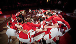 Wisconsin Badgers huddle prior to an NCAA college women's basketball game against the Duke Blue Devils during the ACC/Big Ten Challenge at the Kohl Center in Madison, Wisconsin on December 2, 2010. Duke won 59-51. (Photo by David Stluka)