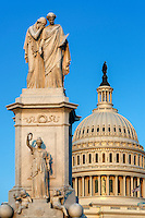 The Peace Monument and U.S. Capitol Building, Washington D.C., USA Capitol Building, Washington D.C., USA