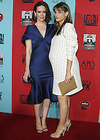 HOLLYWOOD, LOS ANGELES, CA, USA - OCTOBER 05: Sarah Paulson, Amanda Peet arrive at the Los Angeles Premiere Screening Of FX's 'American Horror Story: Freak Show' held at the TCL Chinese Theatre on October 5, 2014 in Hollywood, Los Angeles, California, United States. (Photo by Celebrity Monitor)