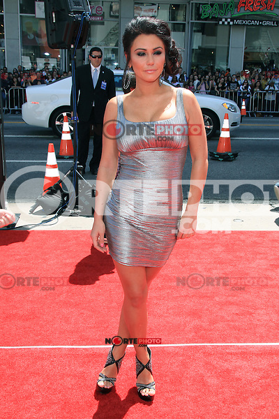 """Jenni JWoww Farley attending The Los Angeles Premiere of """"The Three Stooges"""" held at the Grauman's Chinese Theatre in Hollywood, California on April 7, 2012. Credit: mpi22/MediaPunch Inc."""