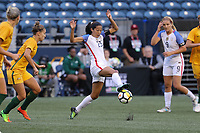 Seattle, WA - Thursday July 27, 2017: Christen Press during a 2017 Tournament of Nations match between the women's national teams of the United States (USA) and Australia (AUS) at CenturyLink Field.