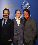 Lin-Manuel Miranda, Emily Blunt and Rob Marshall attends a screening of 'Mary Poppins Returns' hosted by The Cinema Society at SVA Theater on December 17, 2018 in New York City.