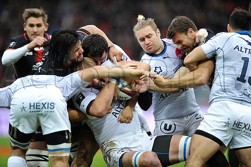 28.02.2016. Toulouse, Frace. Top14 rugby union league, Toulouse versus Montpellier.  Thibaut Privat (mhr)