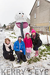Enjoying the building of their snowman in Shanakill on Friday morning last. L-r, Margaret Foley, Nicola Carey, Jamie and Caitlin McIntyre.