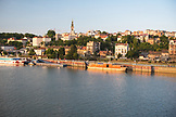 SERBIA, Belgrade,The Belgrade Waterfront and the Sava River at Sunset, Eastern Europe