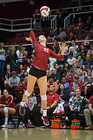 STANFORD, CA - September 9, 2018: Sidney Wilson at Maples Pavilion. The Stanford Cardinal defeated #1 ranked Minnesota 3-1 in the Big Ten / PAC-12 Challenge.