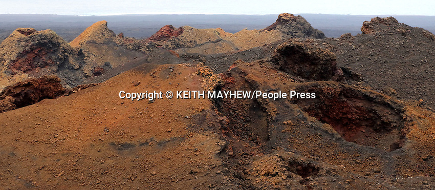 LANZAROTE, CANARY ISLANDS - Timanfaya National Park, during January 2016 in Lanzarote, Canary Islands<br /> <br /> Photo by Keith Mayhew