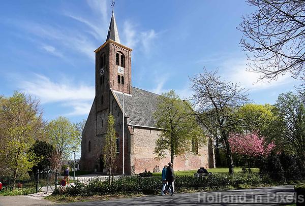 Nederland Limmen - 2018. De Protestantse ( Hervormde) kerk van Limmen.  Foto Berlinda van Dam / Hollandse Hoogte