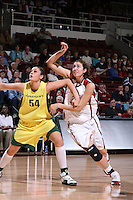 12 January 2008: Morgan Clyburn during Stanford's 83-49 win over Oregon at Maples Pavilion in Stanford, CA.
