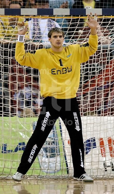 Handball Herren, 1.Bundesliga 2004/2005 Campushalle (Germany) SG Flensburg/Handewitt - FrischAuf! Goeppingen (31:28) Im Tor Martin Galia (FAG)