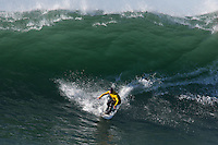 Half Moon Bay - Ca, Sunday, January 20, 2013: Alex Martins competes during the 2013 Mavericks Invitational..