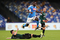 Blerim Dzemaili of Bologna and Kalidou Koulibaly of Napoli compete for the ball<br /> Napoli 01-12-2019 Stadio San Paolo <br /> Football Serie A 2019/2020 <br /> SSC Napoli - Bologna FC<br /> Photo Cesare Purini / Insidefoto