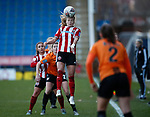 Olivia Ferguson of Sheffield Utd during the The FA Women's Championship match at the Proact Stadium, Chesterfield. Picture date: 8th December 2019. Picture credit should read: Simon Bellis/Sportimage