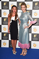 LONDON, UK. March 19, 2019: Michelle Heaton & Victoria Darbyshire arriving for the Royal Television Society Awards 2019 at the Grosvenor House Hotel, London.<br /> Picture: Steve Vas/Featureflash