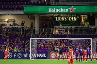 Orlando, FL - Wednesday June 27, 2018:  Houston Dash set for a penalty kick, Orlando Pride vs Houston Dash at Orlando City Stadium.