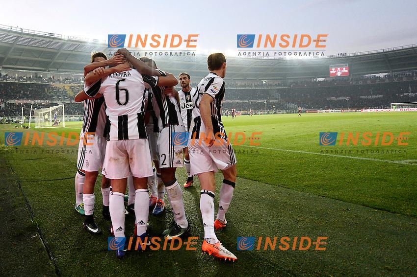 Esultanza Gol Miralem Pjanic  Goal celebration <br /> Torino 11-12-2016 Stadio Olimpico Grande Torino <br /> Fotball Calcio Serie A 2016/2017 Torino - Juventus  <br /> Foto Massimo Pinca Insidefoto