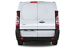 Straight rear view of a 2013 Toyota Proace Comfort 5 Door Cargo Van Rear View  stock images