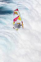Morgan Noireaux (FRA) windsurfing in Ho'okipa Beach Park (Maui, Hawaii, USA)