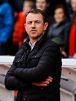 Derby County's manager Gary Rowett during the Sky Bet Championship match between Nottingham Forest and Derby County at the City Ground, Nottingham, England on 10 March 2018. Photo by Stephen Buckley / PRiME Media Images.