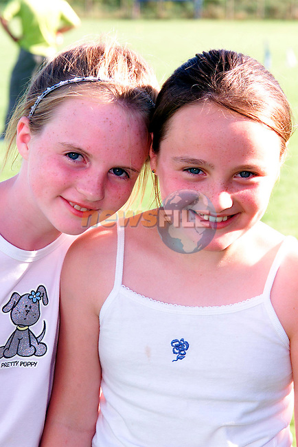 Emily Callan and Shauna Brennan at the Childrens Festival in Lannleire GFC pitch in Dunleer..Picture: Paul Mohan/Newsfile