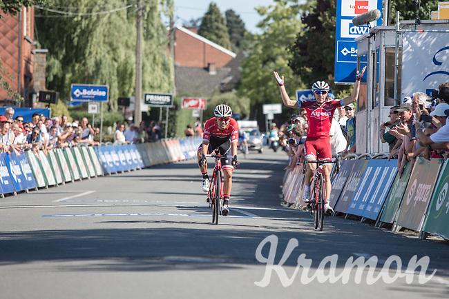 Maurits Lammertink (NED/Katusha Alpecin) wins the sprint from Ruben Guerreiro (POR/Trek Segafredo) <br /> <br /> Baloise Belgium Tour 2017 (2.HC)<br /> Stage 4: Ans-Ans 167,8km