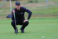Haydn Porteous (RSA) on the 13th green during Round 4 of the Sky Sports British Masters at Walton Heath Golf Club in Tadworth, Surrey, England on Sunday 14th Oct 2018.<br /> Picture:  Thos Caffrey | Golffile