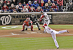 13 October 2012: The St. Louis Cardinals left fielder Matt Holliday in action during Postseason Playoff Game 5 of the National League Divisional Series against the Washington Nationals at Nationals Park in Washington, DC. The Cardinals stunned the home team Nats with a four-run rally in the 9th inning to defeat the Nationals 9-7 and win the NLDS, moving on to the NL Championship Series. Mandatory Credit: Ed Wolfstein Photo