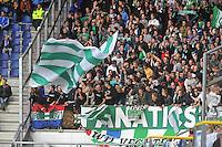 VOETBAL: HEERENVEEN: 15-09-2013,  Abe Lenstra Stadion, SC Heerenveen-FC Groningen, Groningen publiek ©foto Martin de Jong