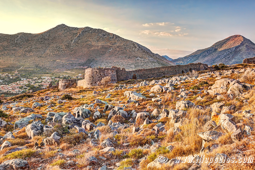 The castle Kelefas in Mani, Greece