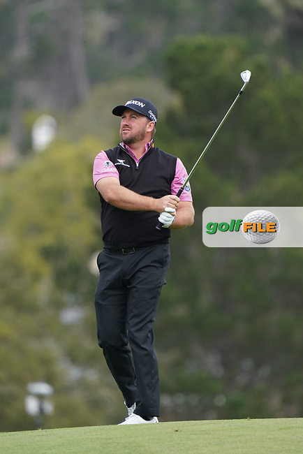 Graeme McDowell (NIR) in action during the third round of the AT&T Pro-Am, Pebble Beach, Monterey, California, USA. 07/02/2020<br /> Picture: Golffile   Phil Inglis<br /> <br /> <br /> All photo usage must carry mandatory copyright credit (© Golffile   Phil Inglis)