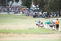 Shane Lowry (IRL) and Paul Dunne (IRL) during the final round of the World Cup of golf,  The Metropolitan Golf Club, The Metropolitan Golf Club, Victoria, Australia. 25/11/2018<br /> Picture: Golffile | Anthony Powter<br /> <br /> <br /> All photo usage must carry mandatory copyright credit (&copy; Golffile | Anthony Powter)