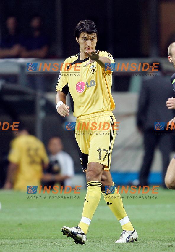 Milano 13/9/2006 Champions League 2006/2007 Group H - Matchday 1. Milan Aek Atene 3-0. Foto Andrea Staccioli INSIDE<br /> Vladimir IVIC Aek