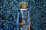 London UK 18h November 2018 Nitto ATP World Tour Finals at 02 Arena London UK Final: Novak Djokovic SRB Vs Alexander Zverev GER Presentation: Zverev with the Champions Cup