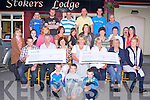 CHEQUE PRESENTATION: Member's of the Chawke family who held a Charity Weekend in memory of mother and daughter Ina Chawke and Lynn O'Connor presenting cheques to Pallative Care at KGH and Mary Mount Hospice, Cork at Stokers Lodge restaurant and bar, Tralee on Friday.