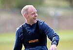 St Johnstone Training&hellip;04.05.18<br />Steven Anderson pictured all smiles during training this morning at McDiarmid Park<br />Picture by Graeme Hart.<br />Copyright Perthshire Picture Agency<br />Tel: 01738 623350  Mobile: 07990 594431
