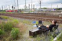 dOCUMENTA (13) in Kassel, Germany..Hauptbahnhof (Main Railway Station)..Susan Philipsz. Music performance.