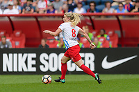 Bridgeview, IL - Saturday July 22, 2017: Julie Ertz during a regular season National Women's Soccer League (NWSL) match between the Chicago Red Stars and the Orlando Pride at Toyota Park. The Red Stars won 2-1.
