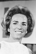 May 7th 1968, Indianapolis, Indiana, <br /> Ethel Kennedy after her husband won the primary in Indiana.