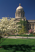 AJ4188, Frankfort, State Capitol, State House, Kentucky, State Capitol Building in the spring in the capital city of Frankfort in the state of Kentucky.