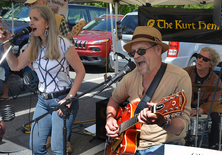 The Kurt Henry Band performing at the Opening Day of the 2017 Saugerties Farmer's Market on Saturday, May 27, 2017. Photo by Jim Peppler. Copyright/Jim Peppler-2017.