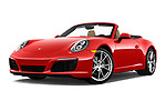 Stock pictures of low aggressive front three quarter view of 2018 Porsche 911 Carrera 2 Door Convertible Low Aggressive