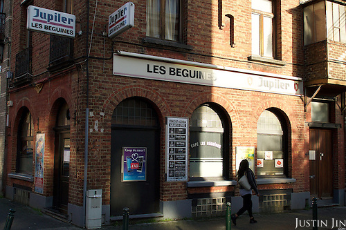 The cafe des Beguines in Molenbeek, Brussels, where Paris attack suspect Saleh Abdelslam worked.