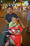 Father & Son On Scooter