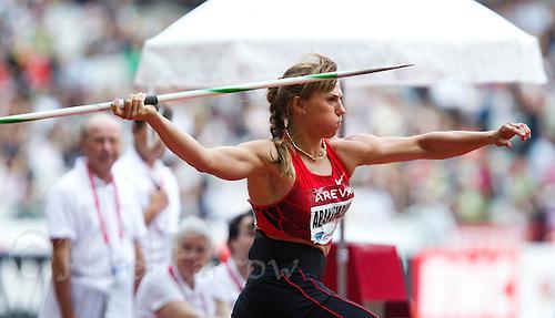 08 JUL 2011 - PARIS, FRA - Mariya Abakumova - women's javelin - Meeting Areva round of the Samsung Diamond League .(PHOTO (C) NIGEL FARROW)